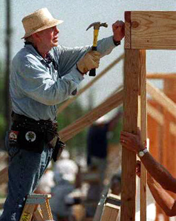 Jimmy Carter Building Home